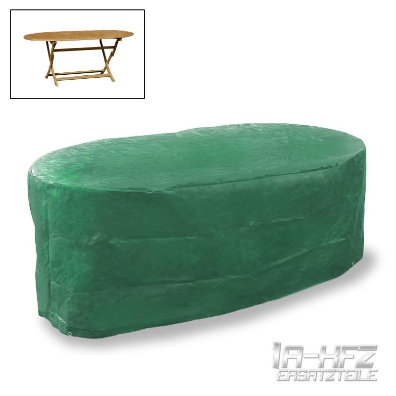 HOUSSE DE PROTECTION TABLE DE JARDIN OVALE 70x180x120 CM VERT BACHE ...