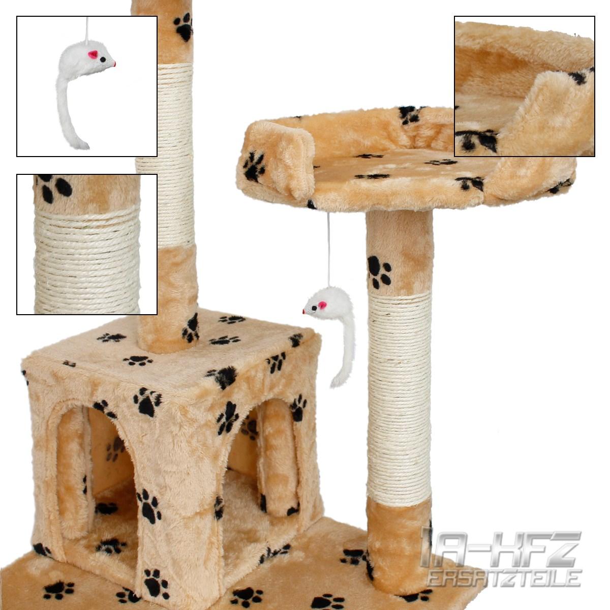 kratzbaum katzenbaum kletterbaum f r katzen katzenkratzbaum spiel sisal pl sch ebay. Black Bedroom Furniture Sets. Home Design Ideas