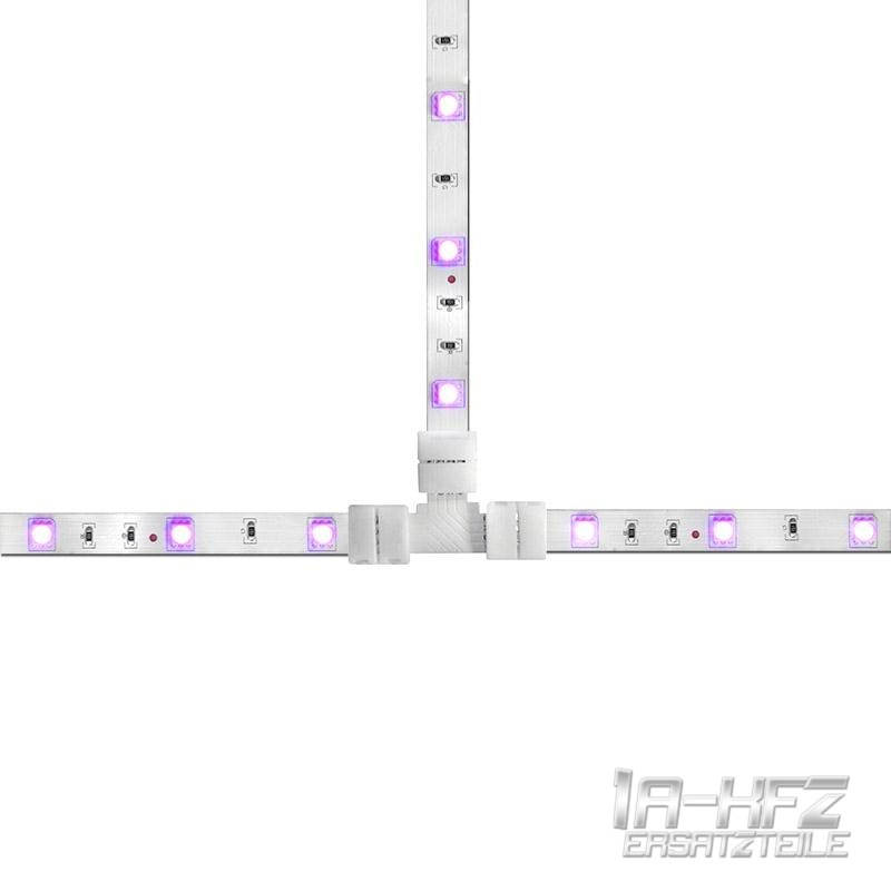 rgb led stripe verbinder band adapter f r lichterkette lichtleiste 5 er satz ebay. Black Bedroom Furniture Sets. Home Design Ideas