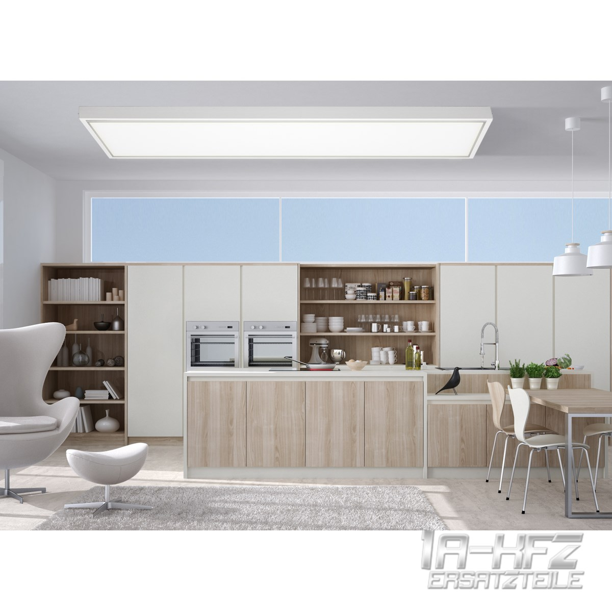 led panel rahmen deckenaufbau 30x30 60x30 60x60 120x30 cm. Black Bedroom Furniture Sets. Home Design Ideas