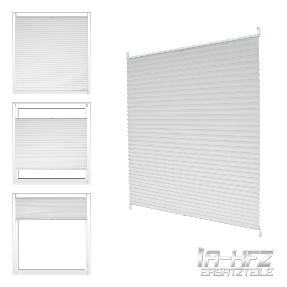 Window Pleated Blind White Colour Clip Fit Mount Select