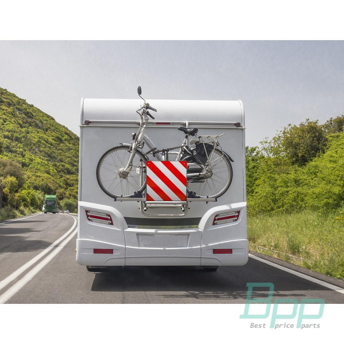 warntafel hinten spanien und italien 50x50cm f r wohnwagen. Black Bedroom Furniture Sets. Home Design Ideas