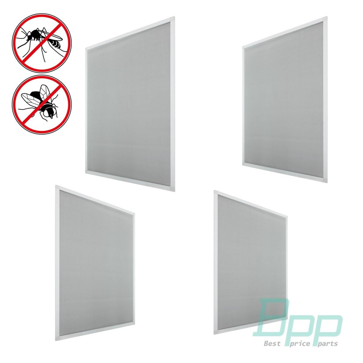 Fliegengitter Fenster Insektenschutz Weiß Alu Rahmen Mückengitter ...