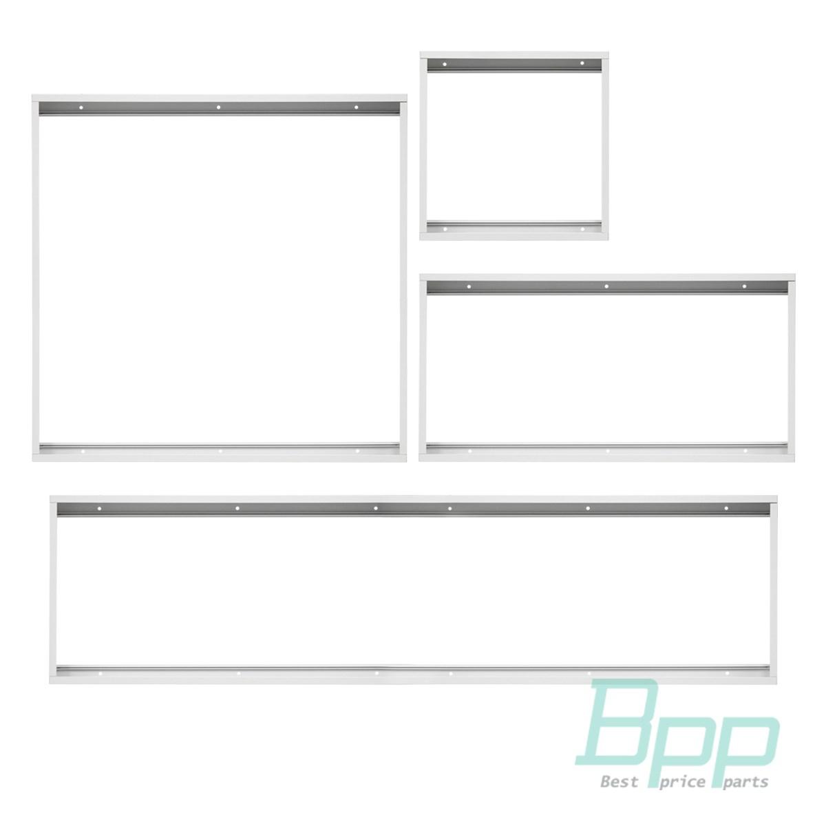 LED Panel Rahmen 30x30 60x30 60x60 120x30 cm Anbau Aufputz Aufbau Metall weiß
