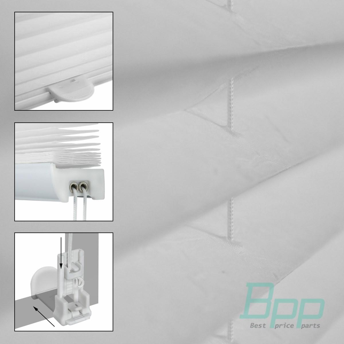 plissee faltrollo jalousie plisseerollo weiss klemmfix ohne bohren fenster t r ebay. Black Bedroom Furniture Sets. Home Design Ideas