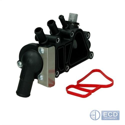 ECD Germany Thermostatgeh/äuse K/ühlmittel mit Dichtung