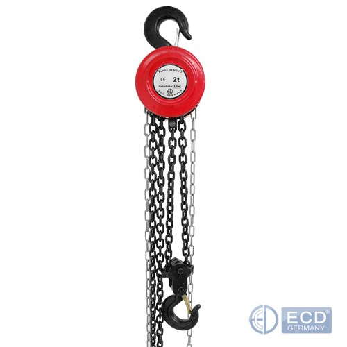 ECD Germany Pulley 180 kg 20 m Rope Length Cable Hoist Chain Hoist