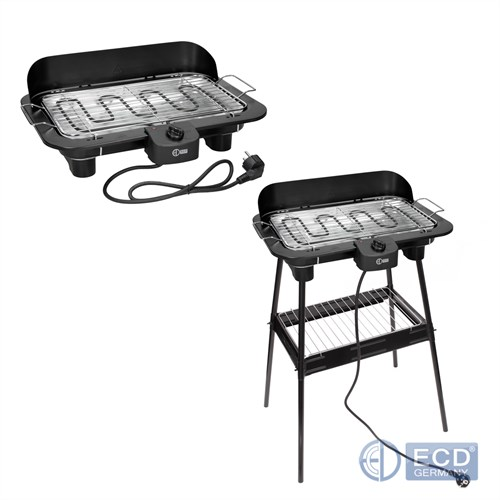elektrogrill bbq standgrill barbecue grillwagen schwarz. Black Bedroom Furniture Sets. Home Design Ideas
