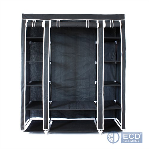 kleiderschrank garderobenschrank faltschrank camping stoff 150x45x175 cm ebay. Black Bedroom Furniture Sets. Home Design Ideas