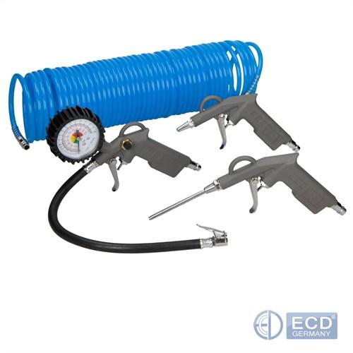 pistolet air comprim kit accessoires gonflage des pneus tuyau air ebay. Black Bedroom Furniture Sets. Home Design Ideas