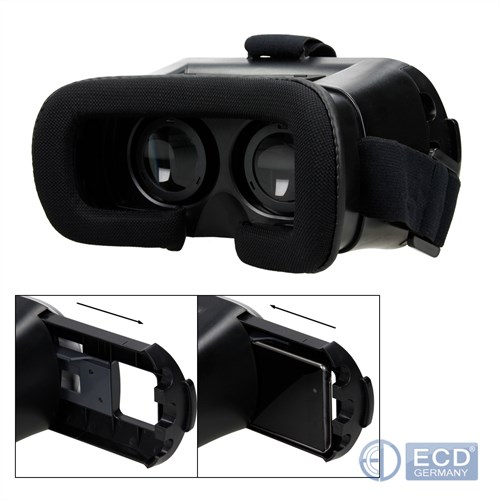 vr brille 3d virtual reality mit bluetooth controller f r. Black Bedroom Furniture Sets. Home Design Ideas