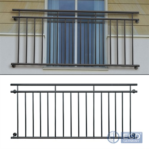 franz sischer balkon gel nder fenstergitter balkongitter stahl anthrazit matt ebay. Black Bedroom Furniture Sets. Home Design Ideas