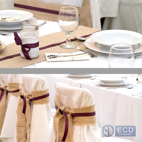 Juteband Tischlaufer Tischband Jute Tischdeko Deko Hochzeit