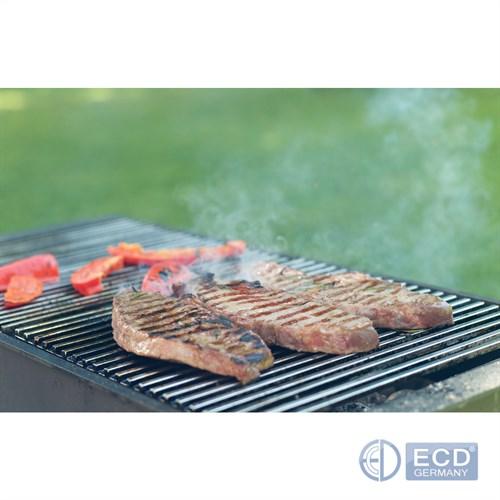 Détails sur Grille de barbecue BBQ avec double manche dimension 60x40cm en acier inoxydable