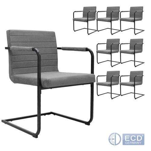 Détails sur 8 pièces chaise en mouse pour salle à manger de conférence ou  de visiteur gris