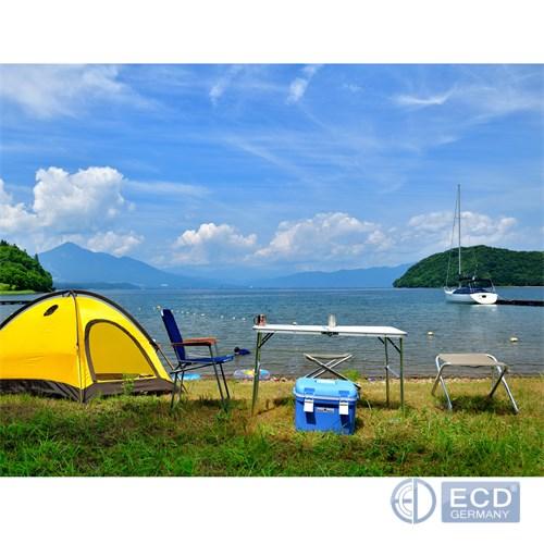 Détails sur Table pliable camping réglable 4 tabourets jardin aluminium  120cm blanc / crème