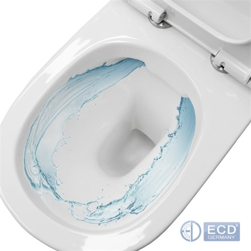 Spülrandloses Wand Hänge WC Spülrandlos Toilette Tiefspüler Softclose Deckel