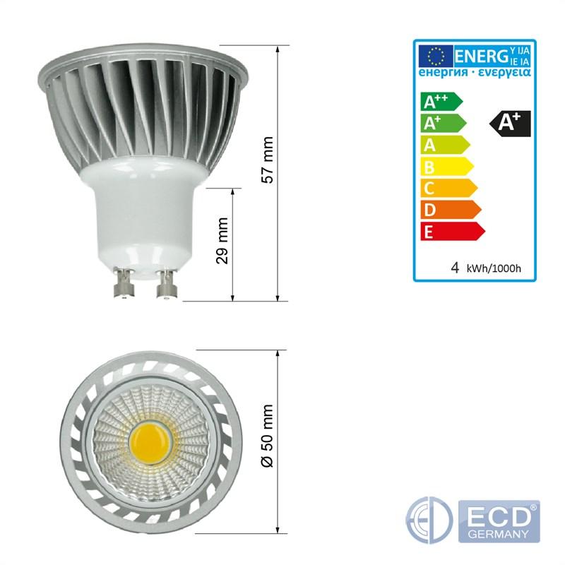 miniature 3 - COB LED GU10 MR16 4W 6W 9W spot lampe ampoule bulb projecteur dimmable ou pas