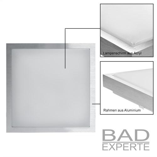 led deckenleuchte deckenlampe badleuchte k che 12w 30x30 cm warmwei lampe licht ebay. Black Bedroom Furniture Sets. Home Design Ideas
