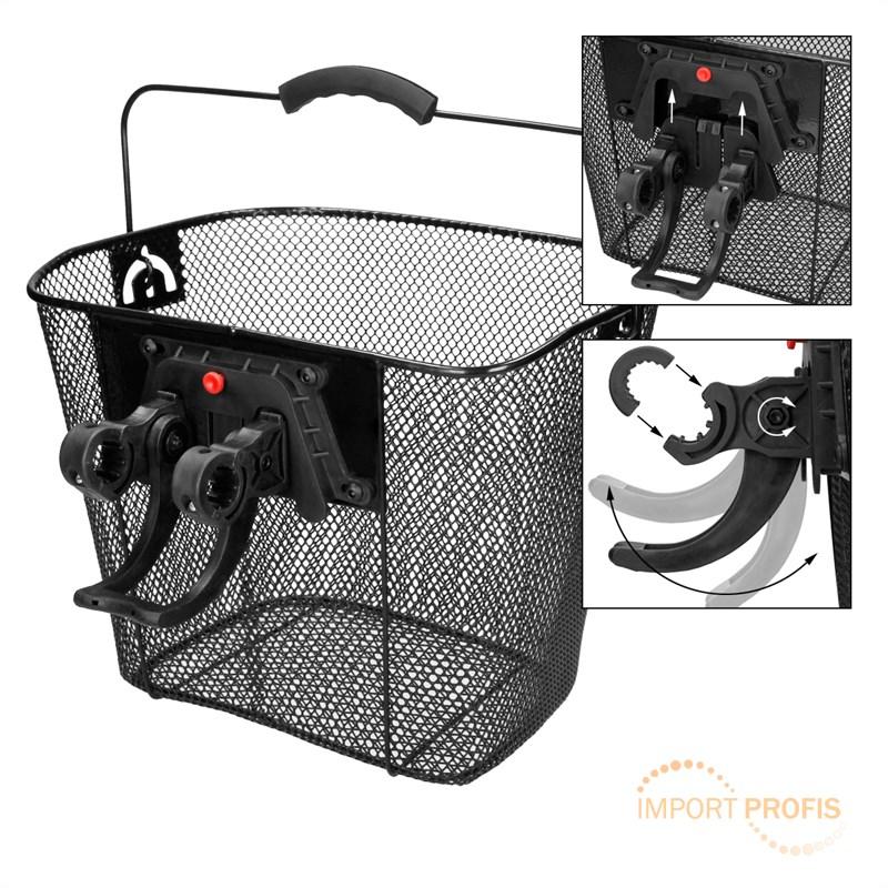 fahrradkorb einkaufskorb klicksystem halter lenkerkorb. Black Bedroom Furniture Sets. Home Design Ideas