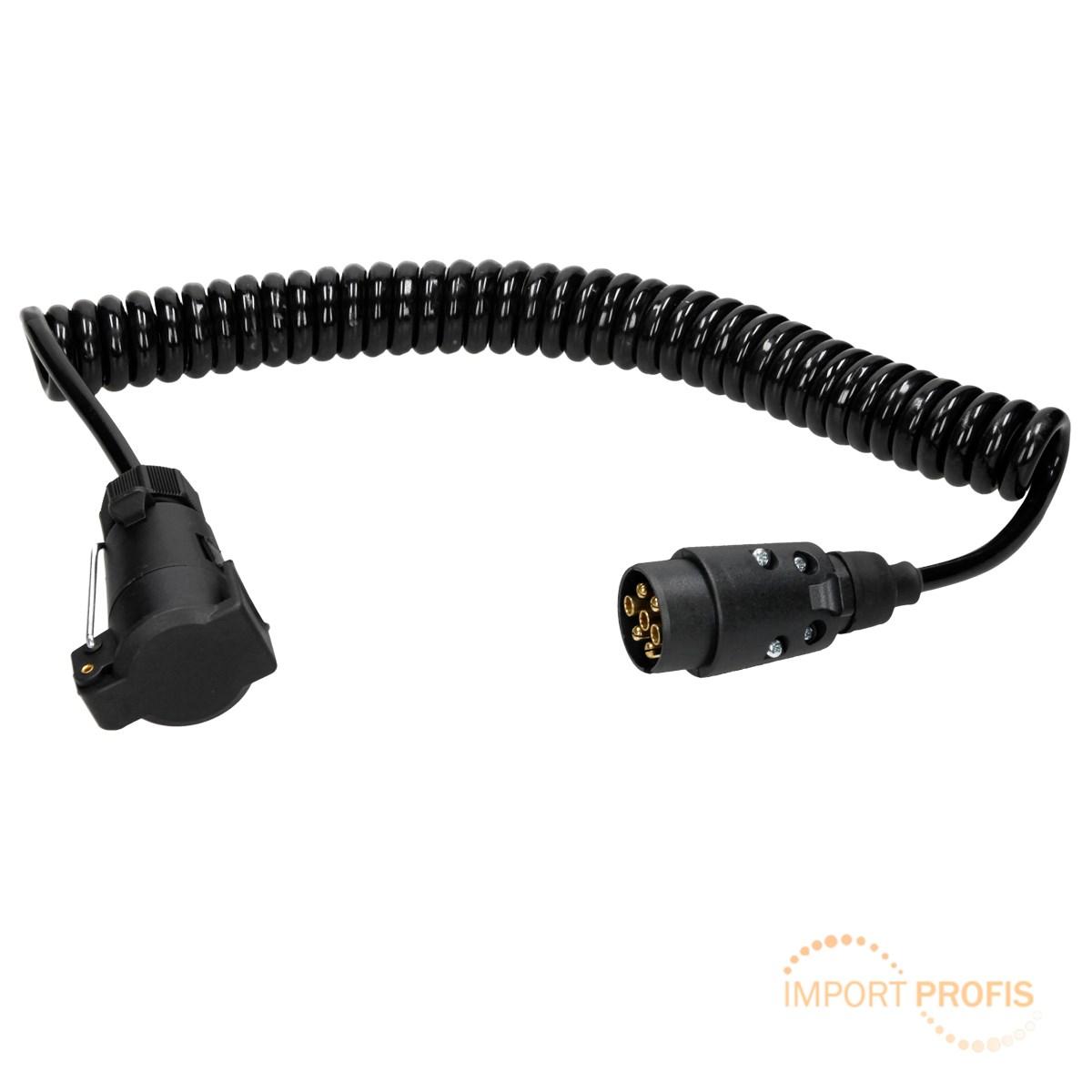 Verlängerungskabel Spiralkabel Anhänger Kabel 12 V 3 m Kunststoff ...