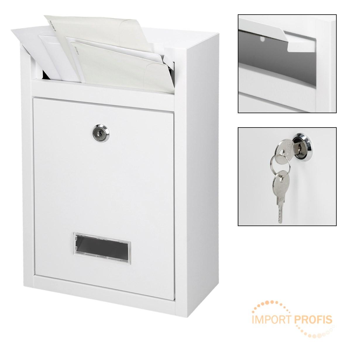briefkasten wei postbriefkasten wandbriefkasten hausbriefkasten postkasten ebay. Black Bedroom Furniture Sets. Home Design Ideas