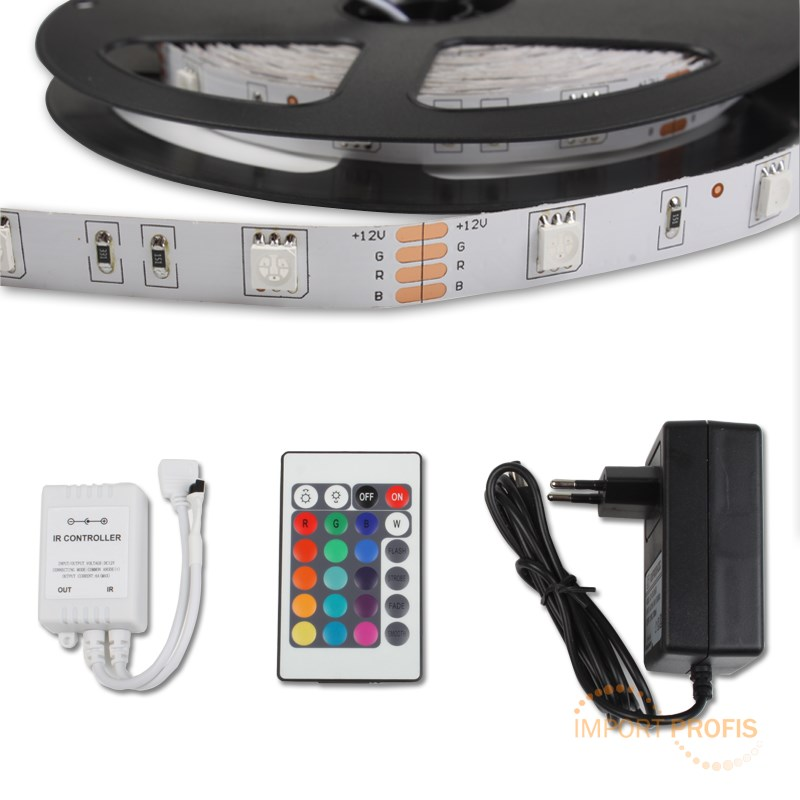10m rgb 5050smd led strip leiste band lichtkette lichter. Black Bedroom Furniture Sets. Home Design Ideas
