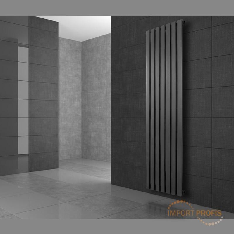 design radiateur panneau vertical blanc anthracite chrome. Black Bedroom Furniture Sets. Home Design Ideas
