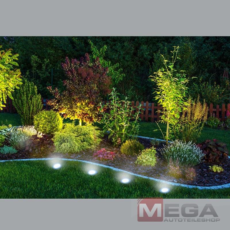 LED Bodenstrahler Solar Lampe Bodeneinbauleuchte Garten
