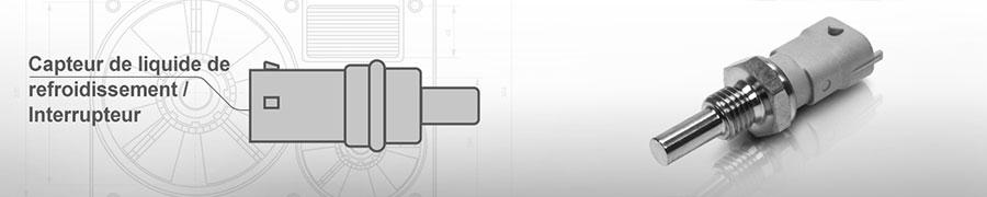 Capteur / interrupteur de liquide de refroidissement
